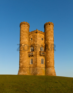 Broadway Tower before sunset, Cotswolds, UK