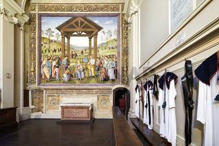 Città della Pieve Umbria Italy. Santa Maria dei Bianchi church. Adoration of the Magi fresco by Perugino