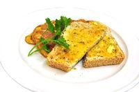 srumble eggs and breadcrumb
