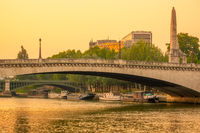 Bridges and Barges on the Evening Seine