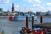 Hamburg, Louisiana Star, Rear Wheel Steamer, Sandtor Harbor, Michel, Germany