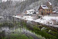 verschneites Bodetal Treseburg