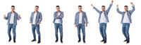 Full length portraits of young man