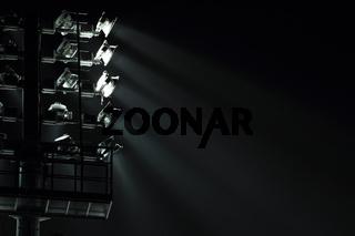 The Stadium Spot-light tower (darck background)