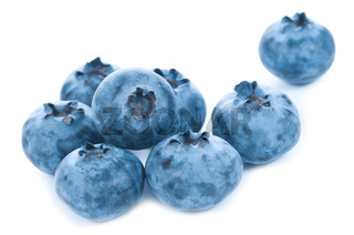 Isolated blue berries group
