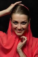 face with veil