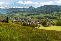 The village of Neu St. Johann in Toggenburg, Canton St. Gallen, Switzerland