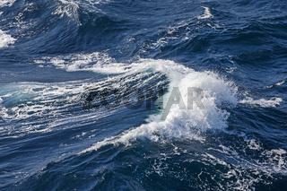 Welle mit Gischtbildung