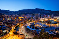 Principality of Monaco at Dusk