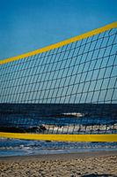 Beach volley ball, portrait format