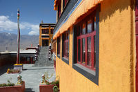 Diskit Monastery also known as Deskit Gompa, Nubra valley, Jammu and Kashmir, India