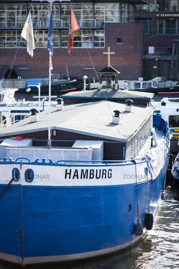 Boatmen Church in Hamburg harbor in the warehouse