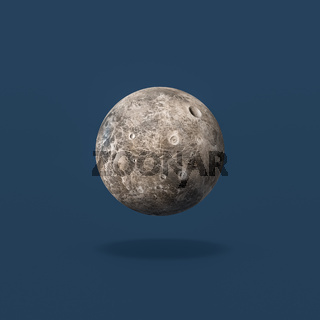 Ceres Asteroid on Blue Background