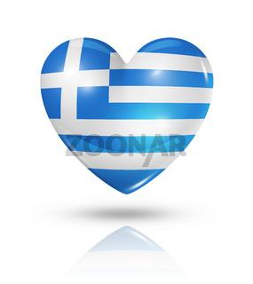 Love Greece, heart flag icon