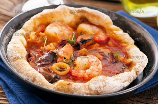 bread with seafood