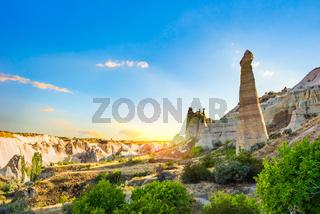 Sunset sky in Cappadocia