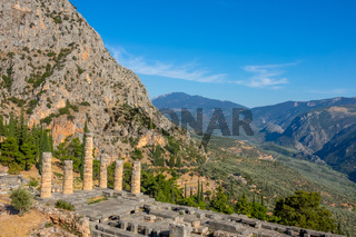 Mountains and Greek Ruins
