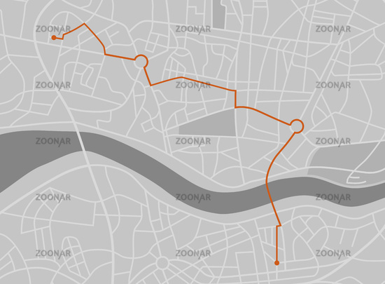 A generic city map - Navigation