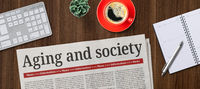 Newspaper on a desk -  Aging and society