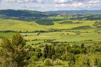 PIENZA, TUSCANY, ITALY - MAY 18 : Countryside of Val d'Orcia near Pienza Italy on May 18, 2013