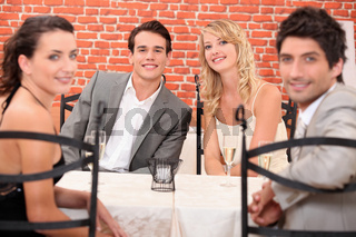friends at table
