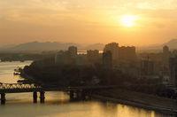 Sun Sets Over Pyongyang, North Korea
