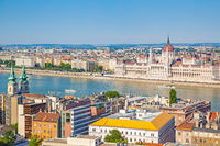 Budapest city and Danube river