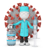A doctor with vaccine 15