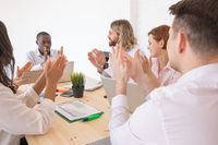 Business people applause at meeting