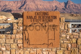 An entrance road going in Grand Canyon NP, Arizona