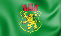 3D Flag of Bad Munder am Deister (Lower Saxony), Germany. 3D Illustration.