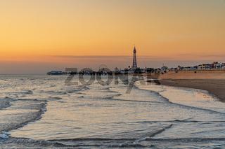 Evening light in Blackpool, England
