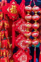 Sanya, Hainan/China-08.04.2020:The view of chinese market and new year preparation.
