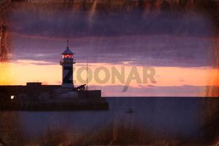 Retro photo of lighthouse