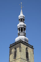 Tower of the St. Petri church, Soest, North Rhine-Westphalia, Germany, Europe