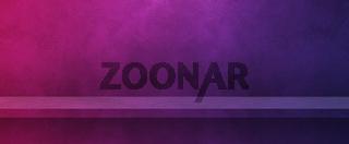 Empty shelf on a purple wall. Background template. Horizontal banner