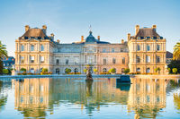 Luxembourg garden with Luxembourg Palace in Paris