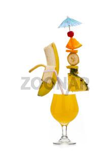 fruit on drink