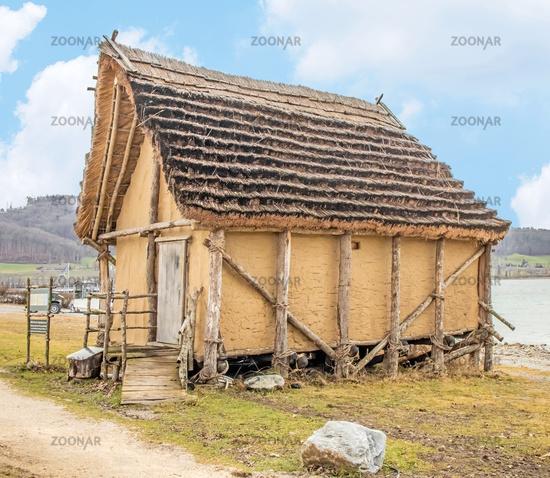 Replica of a pile-dwelling hut, Öhningen-Wangen