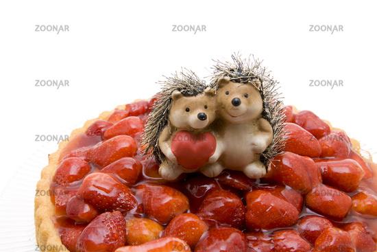 Strawberrys with hedgehog pair