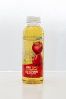 Calgary, Alberta, Canada. May 18, 2021. A bottle of Oasis Apple Juice on a clear background.