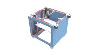 3D rendering of a small consumer 3d printer isolated on a white background