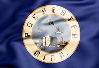 3D Flag of Rochester (Minnesota state), USA. 3D Illustration.