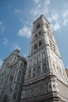 Architectural details of Cathedral of Santa Maria del Fiore Cathedral of Florence. Italy Europe