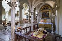 Todi Umbria Italy. Concattedrale della Santissima Annunziata. Cathedral. Statue of Christ