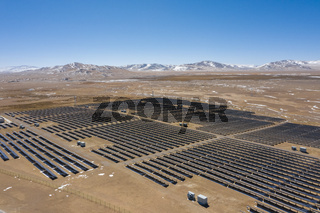 solar power station on northern tibetan plateau