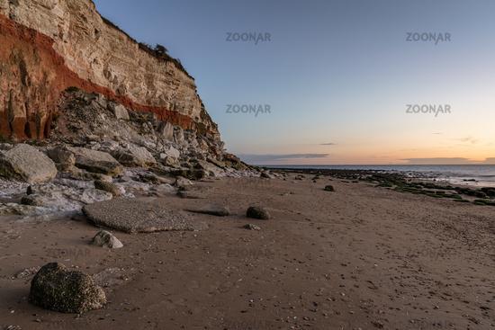 The Hunstanton Cliffs in Norfolk, England