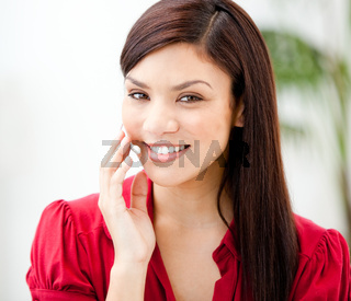 Portrait of a cheerful businesswoman