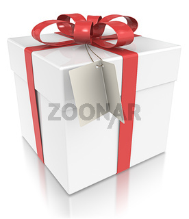 Gift Box with Tag.