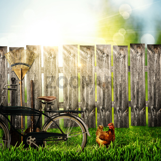 Back to the village! Abstract rural backgrounds